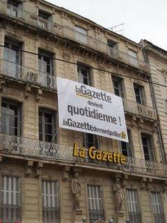 La façade de l'immeuble de La Gazette de Montpellier