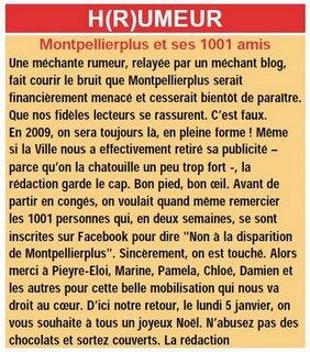 Montpellier plus menacé