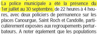 L'article de Montpellier plus du 15 octobre reproduisant le communiqué de presse de la mairie de Montpellier
