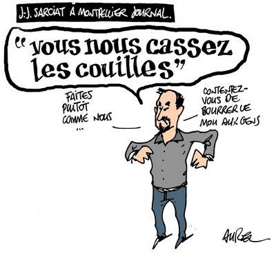 Aurel dessine Montpellier plus et Jean-Jacques Sarciat