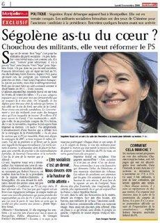 Interview de Ségolène Royal dans Montpellier plus