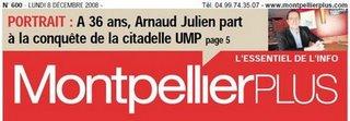 Une de Montpellier plus du 8 décembre