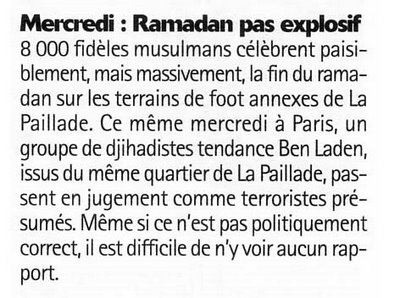 musulmans et djihadistes Paillade