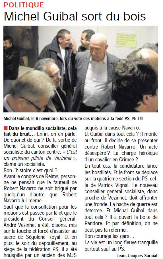 Michel Guibal dans Montpellier plus