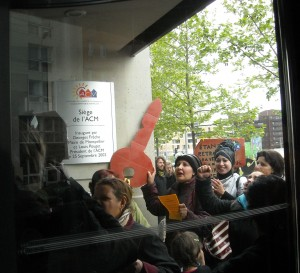 Dans l'entrée du siège d'ACM à Montpellier le 8 avril 2009 (photo : Mj)