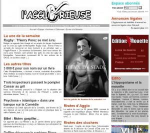 La page d'accueil de L'Agglorieuse le 3 février