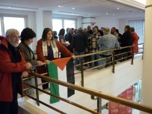 Les militants contre Agrexco au conseil régional du Languedoc-Roussillon (photo : Mj)