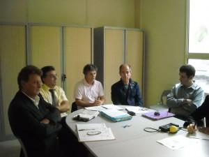 Jacques Cresta, Robert Navarro, Didier Codorniou, Christian Bourquin, Laurent Pradeille le 8 octobre à Montpellier (photo : Mj)