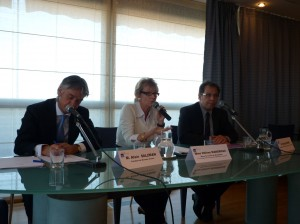 Alain Salzman, Hélène Mandroux, Rudy Iovino le 23 octobre 2009 à Montpellier (photo : Mj)