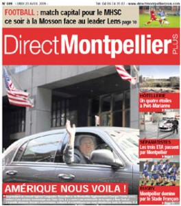 La Une de Direct Montpellier plus du 20 avril 2009