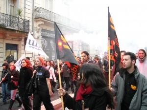 Rue Foch à Montpellier le 5 février (photo : Mj)