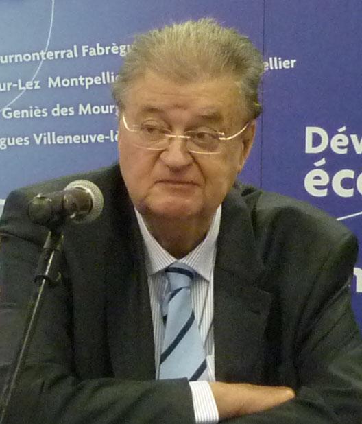 Georges Frêche, président de l'agglomération, le 21 décembre 2009 à Montpellier (photo : Mj)