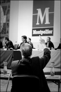 Georges Frêche le 22 juin 2009 en conseil municipal de Montpellier (photo : Xavier Malafosse)