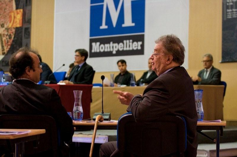 Jean-Louis Gély et Georges Frêche en conseil municipal le 22 juin 2009 (photo : Xavier Malafosse)