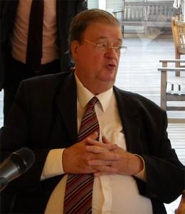 Georges Frêche le 17 décembre 2008 à l'hôtel de région (Photo : Mj)