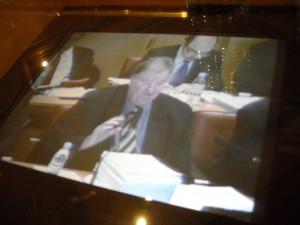 Georges Frêche en conseil régional le 23 février (photo : Mj)