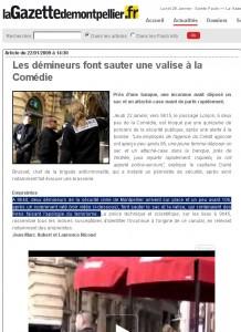 La page du site de La Gazette telle qu'elle était le 26 janvier