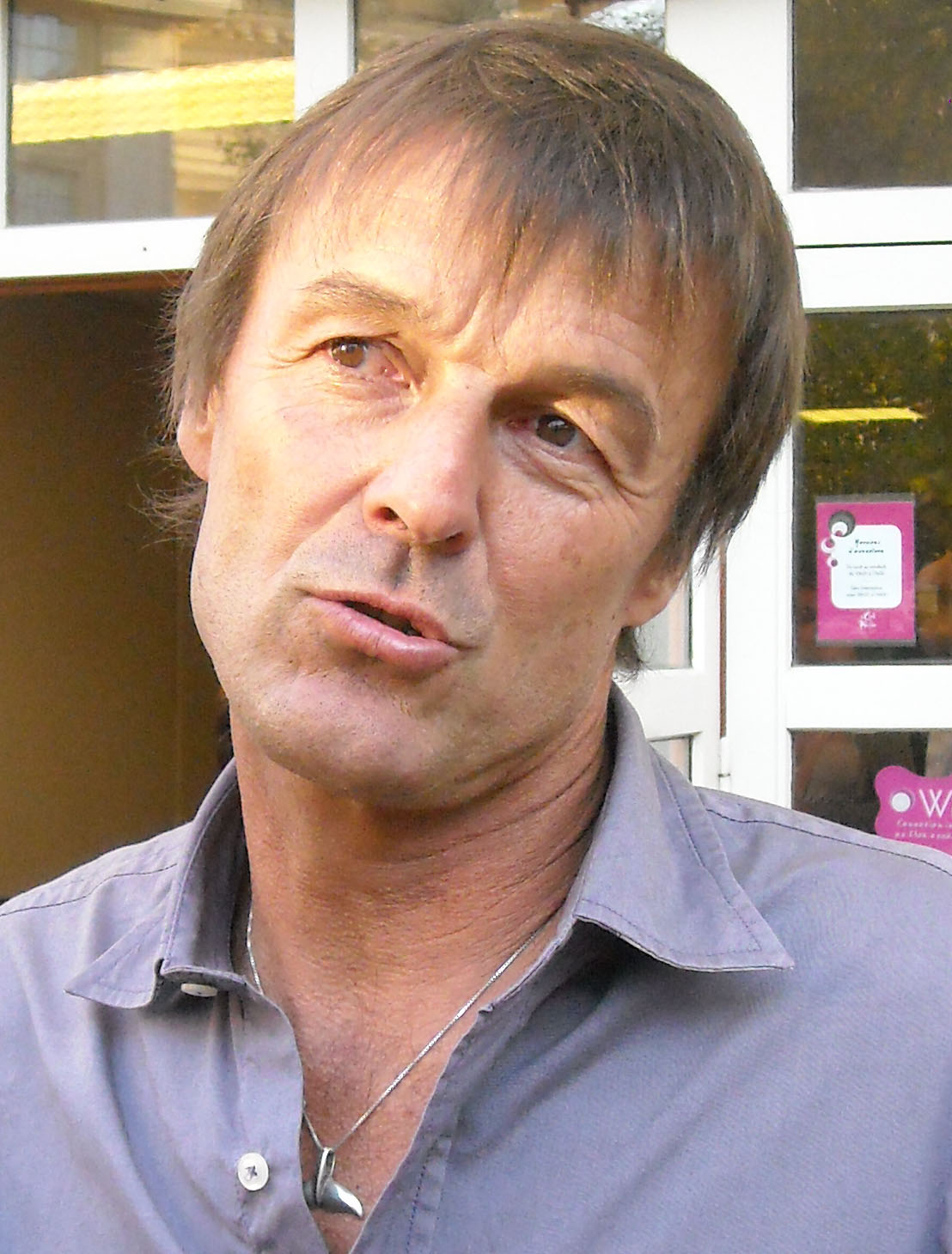 Nicolas Hulot le 7 septembre à Montpellier (photo : Mj)