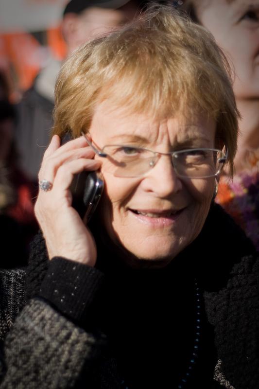 Hélène Mandroux, maire de Montpellier, le 29 janvier 2009 (photo : Xavier Malafosse)