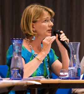 Nathalie Medeiros en conseil municipal le 22 juin (photo : Xavier Malafosse)