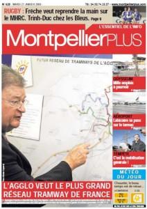 La Une de Montpellier plus du 27 janvier 2009