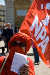 Manifestation du premier mai à Montpellier (photo : Xavier Malafosse)