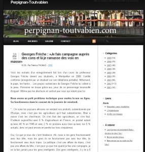 La page d'accueil de Perpignan-Toutvabien