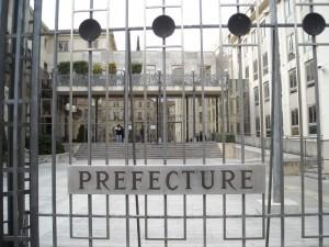 L'entrée de la préfecture à Montpellier (photo : Mj)
