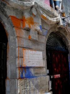 La façade du rectorat de Montpellier lundi en début d'après-midi (photo : Mj)