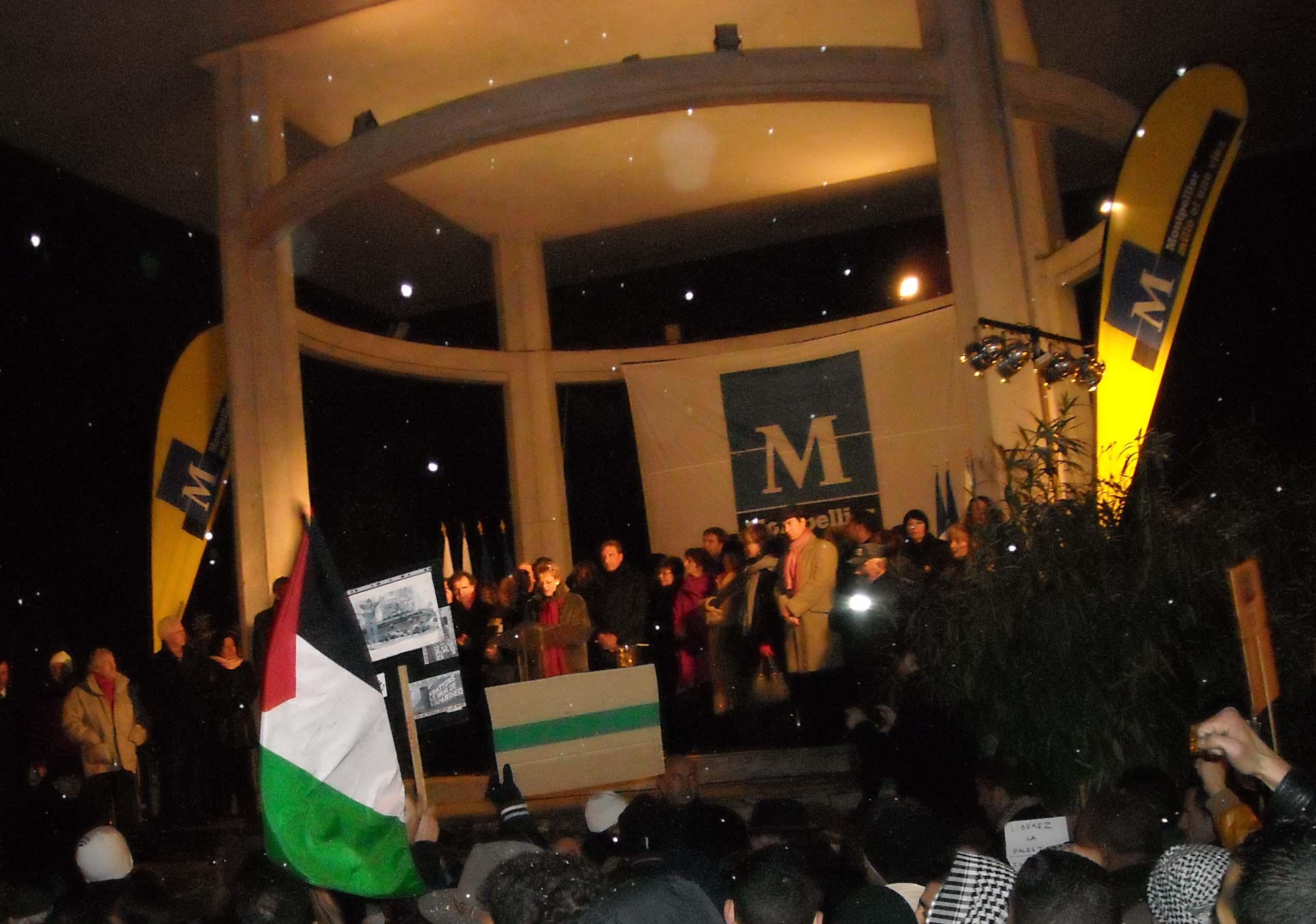 Mandroux voeux Montpellier Israël Palestine