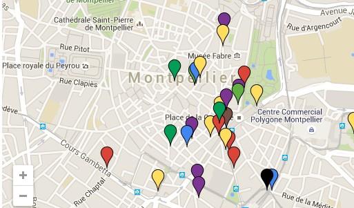 La carte des dispositifs anti-SDF à Montpellier