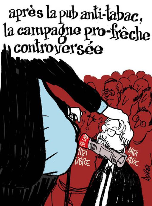Le traitement de la campagne des régionales 2010 par Midi Libre vu par Aurel