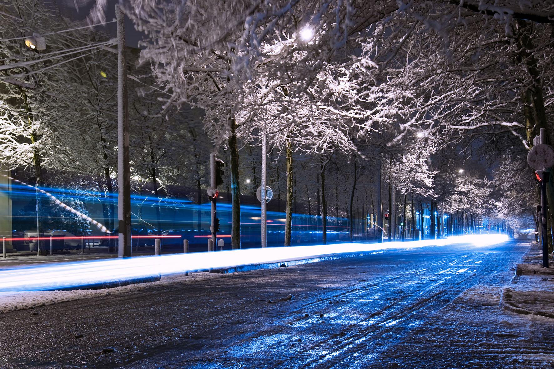 Montpellier le 7 mars 2010, un peu avant minuit (photo : Xavier Malafosse)