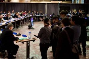 Le 29 mars 2010, Georges Frêche était venu dire en conseil municipal qui était le patron (photo : Mj)
