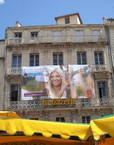 La façade de limmeuble de La Gazette à Montpellier début juillet 2009 (photo : Mj)