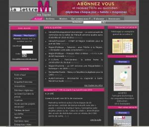 Le site Internet de La lettre M