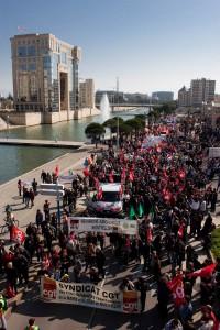 Manifestation le 23 mars 2010 à Montpellier au départ de la place de l'Europe (photo : Mj)