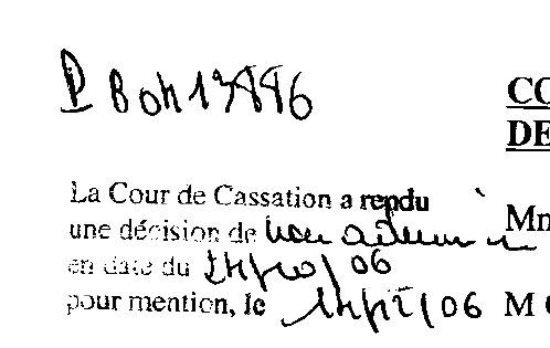 Décision de la Cour de cassation concernant Jean-Jacques Pons (Nouveau centre)