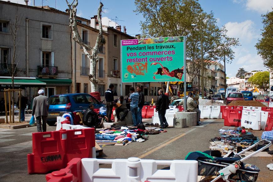 Dans le quartier Figuerolles à Montpellier (photo : Mj)