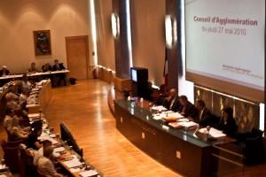 Conseil d'agglomération de Montpellier le 27 mai 2010 (photo : Mj)