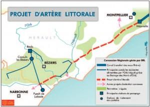 Projet Aqua domitia (source : dossier de presse de la région Languedoc-Roussillon, 1er septembre 2008)