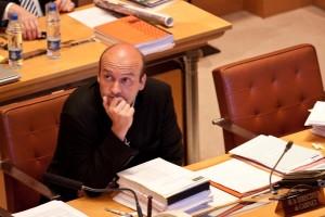 Frédéric Bort le 18 juin 2010 au conseil régional du Languedoc-Roussillon (photo : Mj)