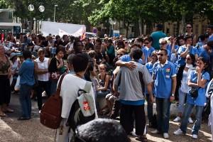 L'assemblée générale des personnels des 10 cliniques privées de Montpellier en grève a réuni environ 150 personnes le 2 juin 2010 (photo : Mj)