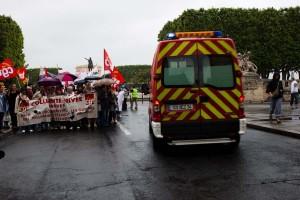 Manifestation des cliniques privées de Montpellier en grève le 10 juin 2010 (photo : Mj)