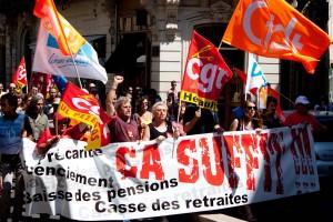 Manifestation contre la réforme des retraites à Montpellier le 24 juin 2010 (photo : Mj)