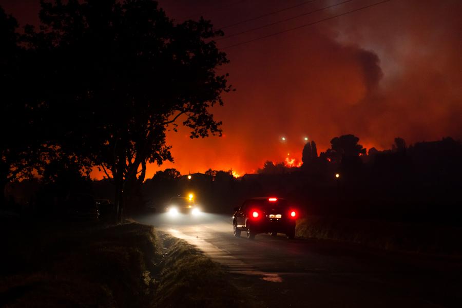 Incendie du 30 août 2010 à Guzargues près de Montpellier (photo : Xavier Malafosse)