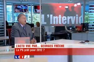 Georges Frêche sur LCI le 16 septembre 2010 (photo : capture d'écran de la vidéo LCI)
