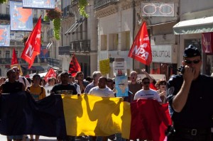 Manifestation contre la Xénophobie à Montpellier le 4 septembre 2010 (photo : Mj)