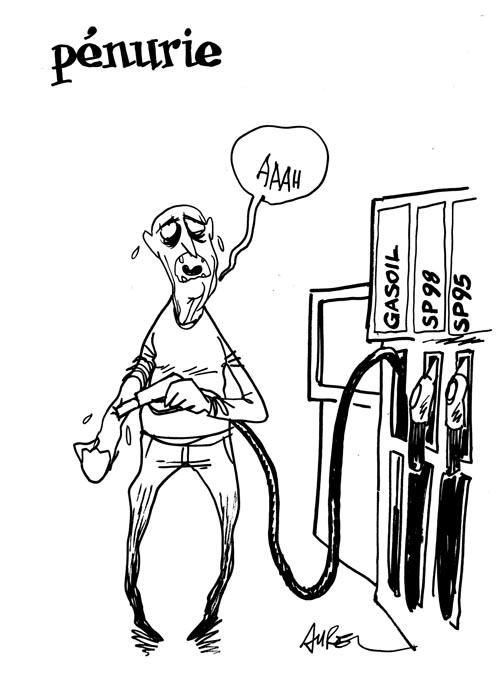 Le pétrole, une drogue ? (Dessin : Aurel)