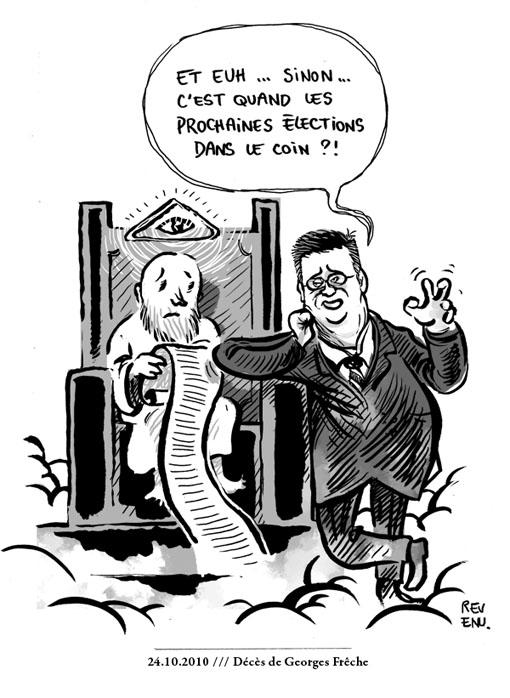 La mort de Georges Frêche vue par le dessinateur Revenu